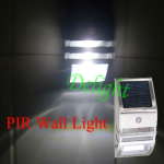 PIR 人体感应太阳能壁灯 DL-MSW02