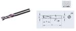 整体硬质合金键槽铣刀