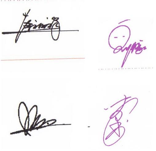 商务签名章