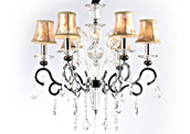 Metal candle crystal chandelier