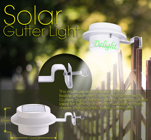 Solar Step Lighting Solar Gutter Led Light DL-SW378