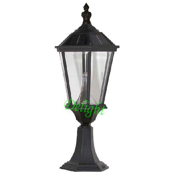六角太阳能柱头灯 DL-SPS010