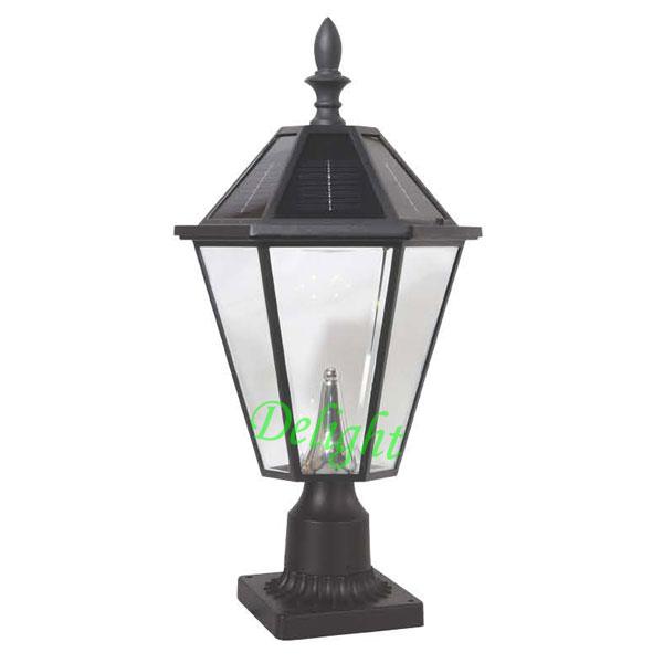 美式太阳能柱头灯 DL-SPS012