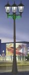 3头太阳能庭院灯 欧式庭院灯 DL-SG0093B