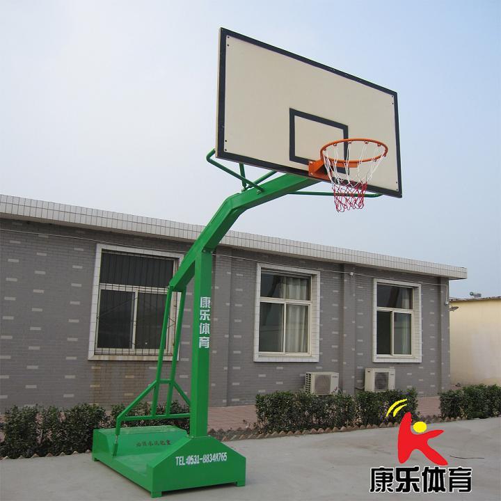 凹箱移动玻璃钢篮球架