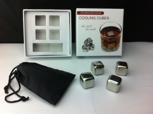 Stainless steel ice cube 4pcs set (color box packaging)LFK-IC01A