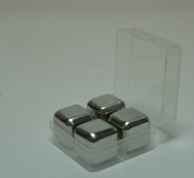 Stainless steel ice cube 4pcs set (PP box packaging)