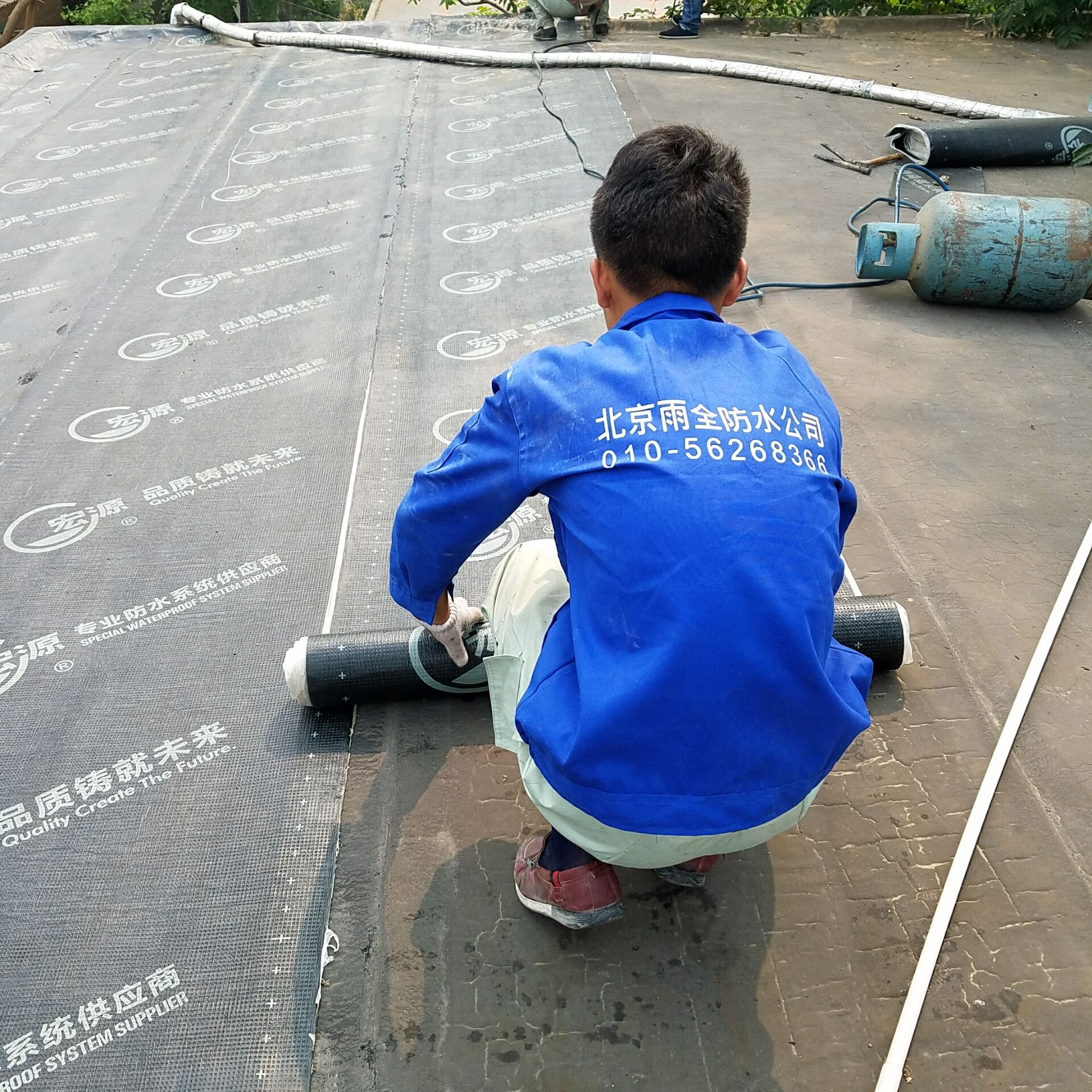 东北旺苗圃家属楼屋面防水工程