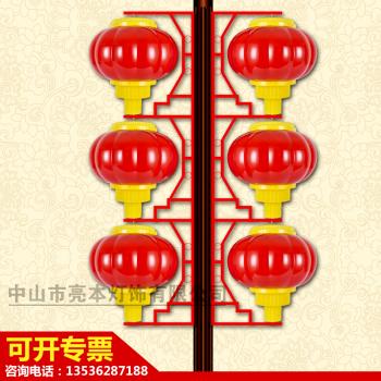LED单架灯笼 红色