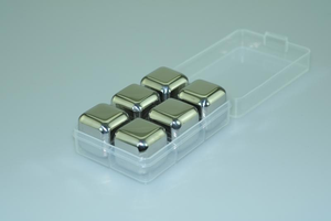 Stainless steel ice cube 6pcs set (PP box packaging)