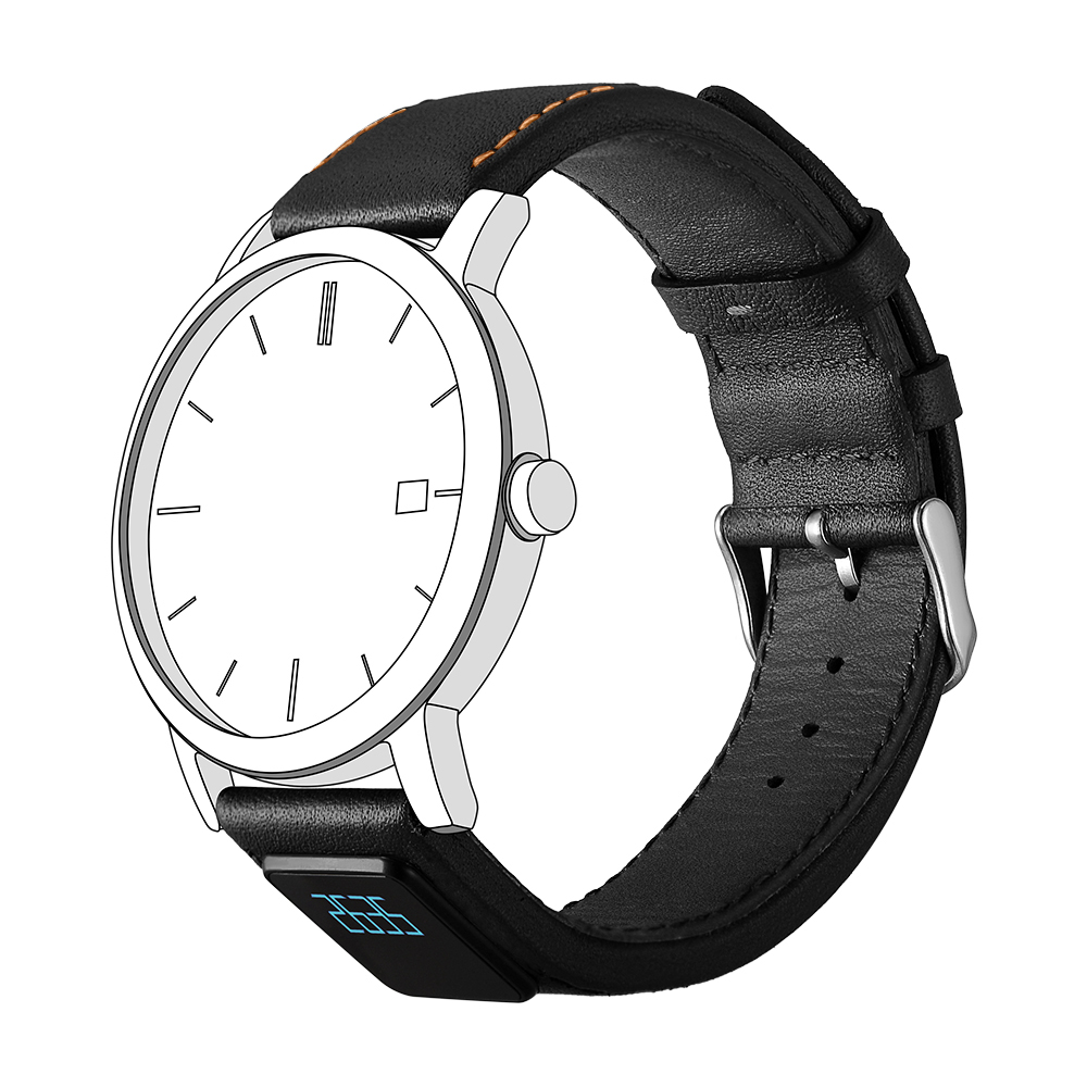 智能表带,H3,真皮表带,机械表智能表带,智能手环,黑色款