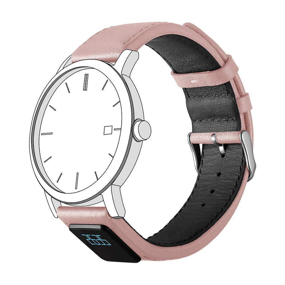 智能表带,H3,真皮表带,机械表智能表带,智能手环,粉色款