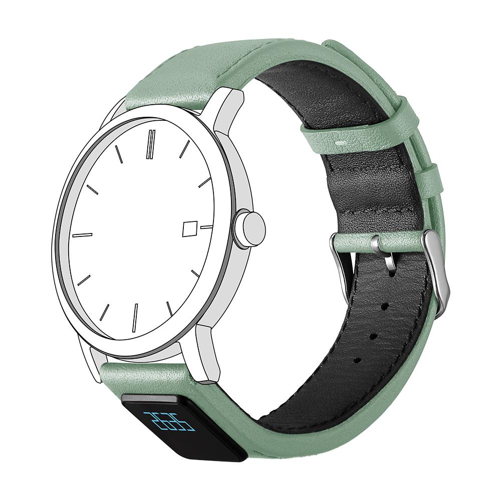 智能表带,H3,真皮表带,机械表智能表带,智能手环,浅绿色