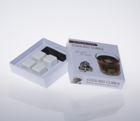 Ceramic Ice Cube 4 Pcs Set( Color Box Packaging)LFK-IC01