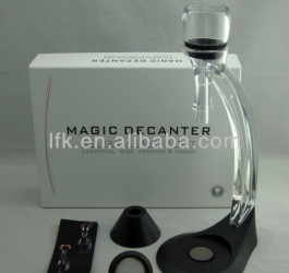 Elite hour glass magic decanter wine aerator set LFK-007C