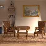 极简中式沙发