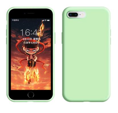 爆款手机壳液态硅胶适用于iPhone SE 全面防摔6s 纯色百搭7/8