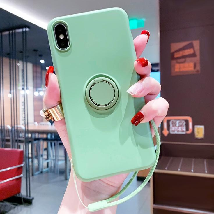 手机壳适用iPhone液态硅胶指套 追剧必备指环支架