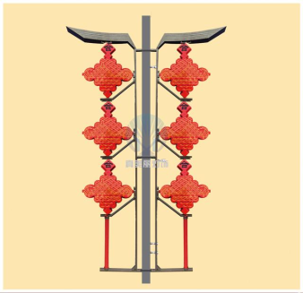LED中国结三连串(印图案)