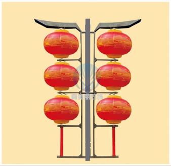LED磨砂灯笼三连串(印图案)