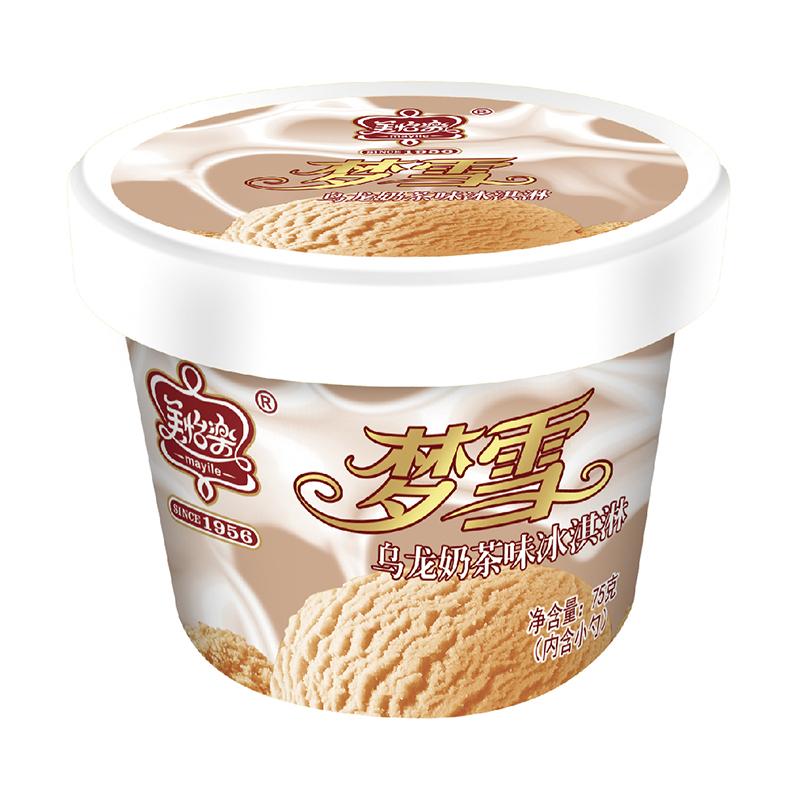 梦雪冰淇淋-乌龙奶茶